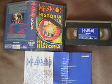 DEF LEPPARD Historia JAPAN VHS VIDEO PHVS-3505 w/INSERT+Pic Sleeve FREE S&H/P&P