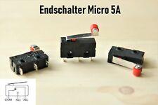 Endschalter Micro Mini 3D Drucker Öffner/Schließer Microswitch Endstop Rollen