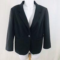 OBR Out Back Red Womens Blazer Size M Black 2 Button Pockets Work Career Dressy