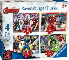 Ravensburger AVENGERS ASSEMBLE 4 IN A BOX JIGSAW PUZZLES Toys Games - BN