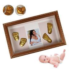 3D Baby Bilderrahmen Kits Gipsabdruck Set zum Selbermachen Baby Hand & Fuß Good