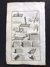 LIBRO ANTICO ORIGINALE STAMPA/Piastra 1772; muratura, magneti, mantlets 1700 S
