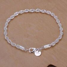 Bracelet Femme Plaqué Argent 925 Maille Torsadée