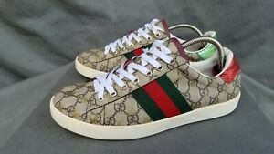Men's Gucci Ace GG Supreme Bees 429445 Sneakers Sz-8 Made in Italy