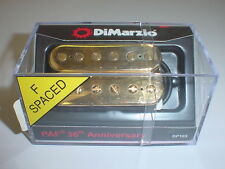DIMARZIO DP103 PAF 36th Anniversary Electric Guitar Pickup - GOLD CAPS F SPACED