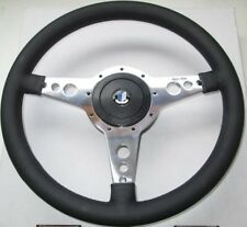 "New Moto-Lita 14"" Leather Steering Wheel & Adaptor Triumph TR4 TR6 Moto Lita"
