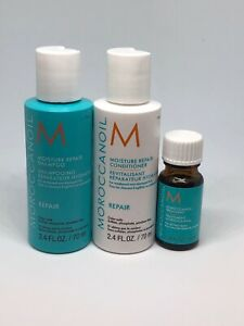 *Guaranteed NEW* Moroccanoil Repair Shampoo And Conditioner With Travel Oil!