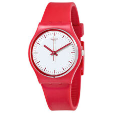 Swatch Puntarossa White Dial Ladies Silicone Watch GR172