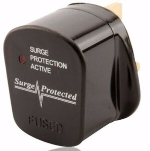 ANTI SPIKE SURGE PROTECTED 3A 5A 10A 13A FUSED UK AC MAINS POWER REWIREABLE PLUG
