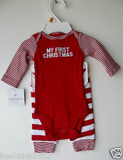 Carter's Baby Turn-Me-Around Reindeer 2-Piece Bodysuit and Pants Nwt Newborn