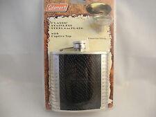 COLEMAN STAINLESS STEEL  6oz  FLASK    NEW  CLEARANCE  LOWER PRICE