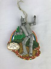 San Francisco Music Box Co Wizard of Oz Tin Man Christmas Ornament Works 4.5�H