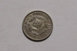 SOUTH AFRICA 6 PENCE 1932 SILVER B35 #8359