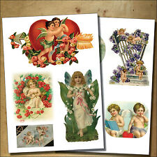 Vintage Victorian Valentines decoupage / cherubs /sticker- decoupage decal No.2