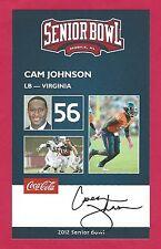 CAM JOHNSON 2012 SENIOR BOWL VIRGINIA CAVALIERS ROOKIE CLEVELAND BROWNS 49ers