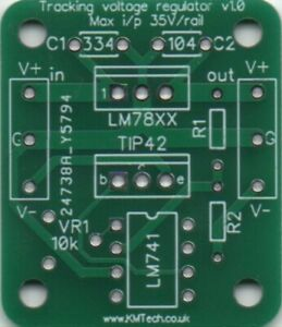 LM78XX Tracking Voltage Regulator Down Converter DC-DC PCB DIY