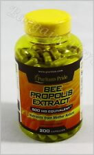 Puritan's Pride Bee Propolis 500 mg 200 Capsules New Sealed Free Shipping
