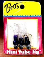 Vintage Betts Purple Clear 1/64 ounce Mini Tube Panfish / Walleye Fishing Jig