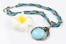 Turquoise Rhinestone Beauty Costume Necklaces & Pendants