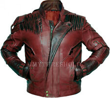 Guardians of the Galaxy 2 Star Lord Chris Pratt Maroon Real Leather Jacket