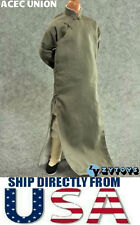 "1/6 Scale Long Sleeves Kung Fu Suit Robe Set GRAY For 12"" Male Figure USA SELLER"