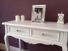 White French Style Console Table Dressing Vanity Hall Wooden Table Crystal
