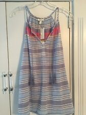 NWT Joie Soft Joie Laurella Colorful Striped Linen Tank With Tassels Size Large