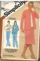 9857 Vintage Simplicity Sewing Pattern Misses Pull on Skirt Pants Top Jacket OOP