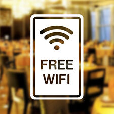 Free WIFI Window Sign Vinyl Sticker Graphics Cafe Shop Salon cup Bar Restaurant