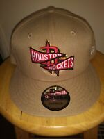 Houston Rockets Team Banner Hat 9FIFTY Snapback Cap NBA New Era Adult Beige USA