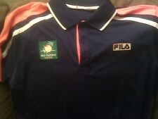 Bnp Paribas Tennis Open Embroidered Polo Shirt - Made By Fila - Men's Small