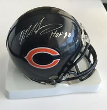 Mike Singletary Chicago Bears Signed Autograph Mini Helmet HOF 98 JSA Witness