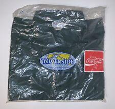 "Vintage Coca-Cola Uniform Delivery Shirt Green Coke Riverside Half Sleeve 15.5"""