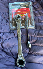 NEW! GearWrench 85227 2Pc Metric Quadbox Reversible Ratchet Wrench Set.