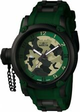 New Mens Invicta 1197 Russian Diver Swiss Quartz 52mm Black/Green Watch