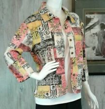 Candy Couture Womens Floral Blazer Jacket 100% Cotton Size Extra Large XL