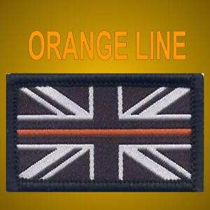 THIN ORANGE LINE BADGE - SEARCH & RESCUE Hook & Loop SAR UK