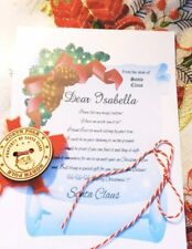 Santa's Lost Button With personalised letter - CHRISTMAS TRADITION