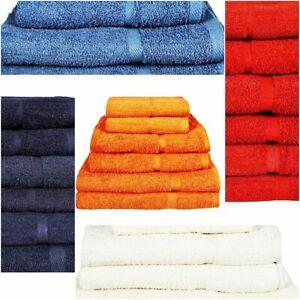 Luxury Soft Bath Face Hand Towels Sheets Wash Clothes Bale Sets 100% Pure Cotton