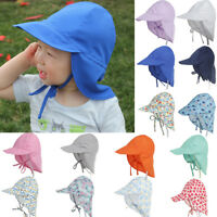 Summer Sun Hat Neck Ear Cover Beach Flap Cap Breathable for Children Latest
