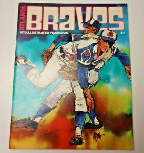 1973 ATLANTA BRAVES MLB BASEBALL YEARBOOK RARE NATIONAL LEAGUE HOF'ER HANK AARON