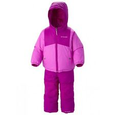 NWT COLUMBIA DOUBLE FLAKE SNOW SET PINK REVERSIBLE SNOWSUIT BIBS JACKET COAT 3T