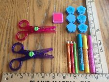 Hello Kitty Craft Scissors, Markers, Colored Pencils, Stamp Pad, And Stamps