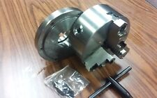 """6"""" 3-JAW SELF-CENTERING LATHE CHUCK top & bottom jaws w. L00 adapter back plate"""