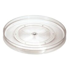 interdesign linus kitchen pantry or cabinet 11inch lazysusan turntable clear