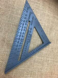 """CLEARANCE S465021 ROOFER JOINER CARPENTER ROOFING LAYOUT SQUARE 7""""180mm HIP CUT"""