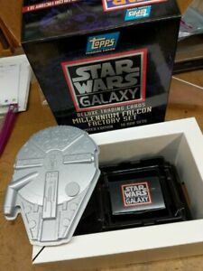 Topps Star wars Galaxy deluxe trading cards millennium falcon factory set new