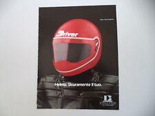 advertising Pubblicità 1982 CASCO HELMET DRIVER HELMO