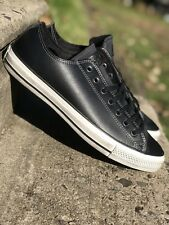 Converse All Star Mens Low Top Casual Shoe Distressed Black/White 159017C Sz 9.5