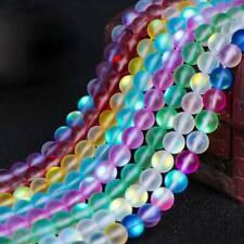 Round Matte Imitation Moonstone Labradorite Loose Glass Beads 6mm 8mm 10mm 12mm